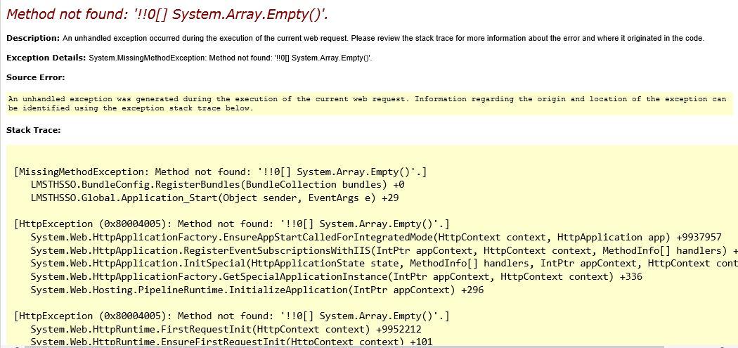 solved  method not found   u2018  0   system array empty